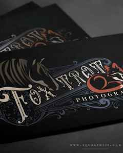 Red Fox and Mustang Logo Brings Vintage Style to Equine Photographer's Brand