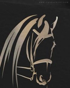 Double Bridle Detail Makes Friesian Breeder's Logo Next Level