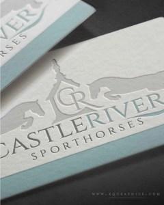 Castle Inspired Monogram Logo for Elite Sporthorse Training Facility