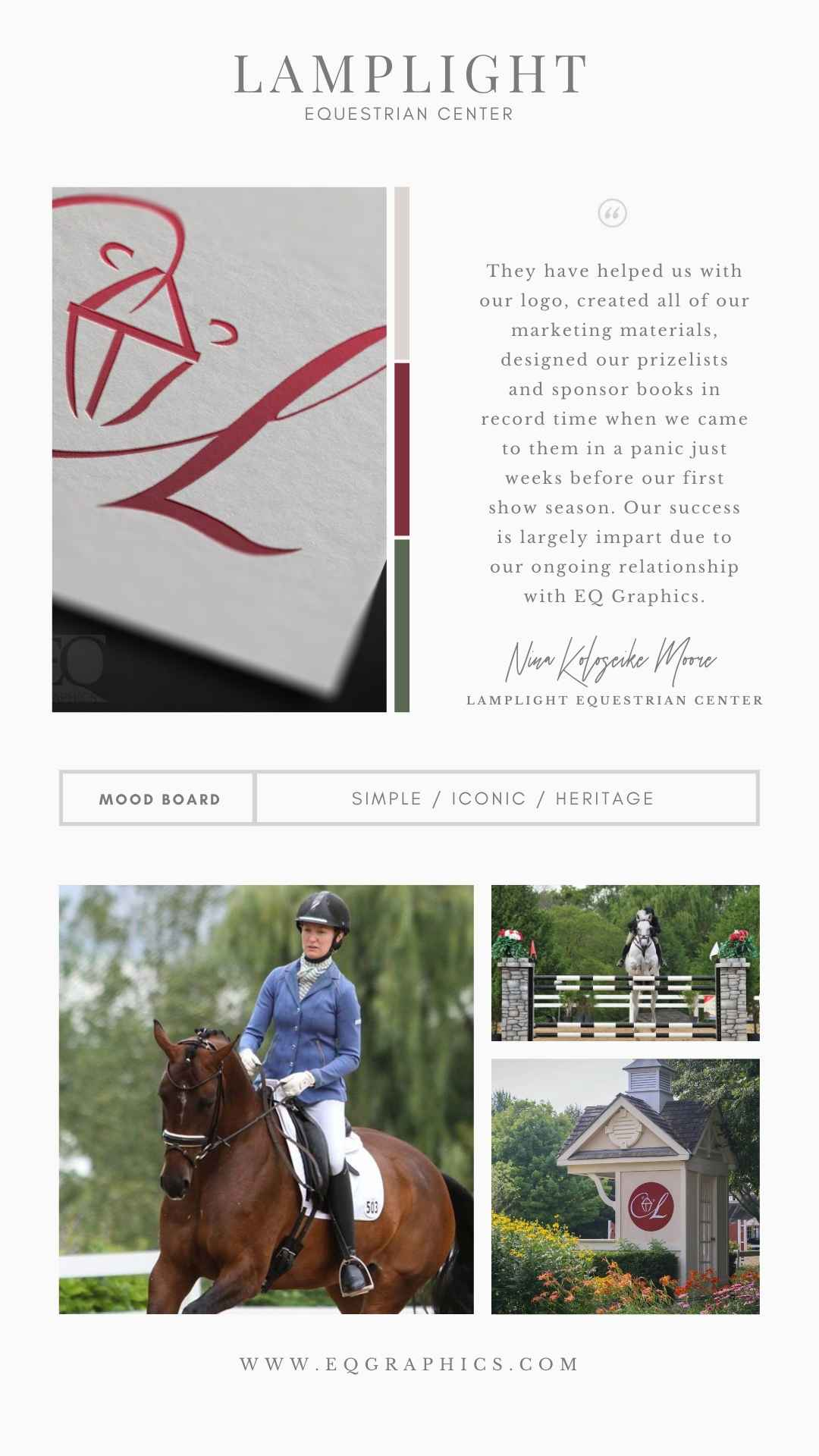 """Sophisticated Lantern Integrated with Letter """"L"""" for Elite Equine Show Facility Logo"""