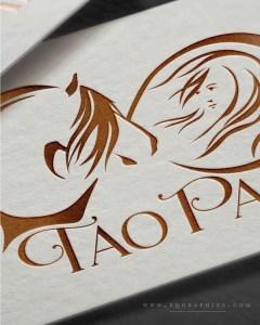 Gorgeous Copper Foil Infinity Symbol Logo for Gypsy Cob Breeder