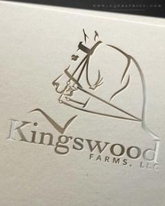 Saddleseat Arabian's Flashy Movement Frozen in Time in Breeder's Custom Logo Design