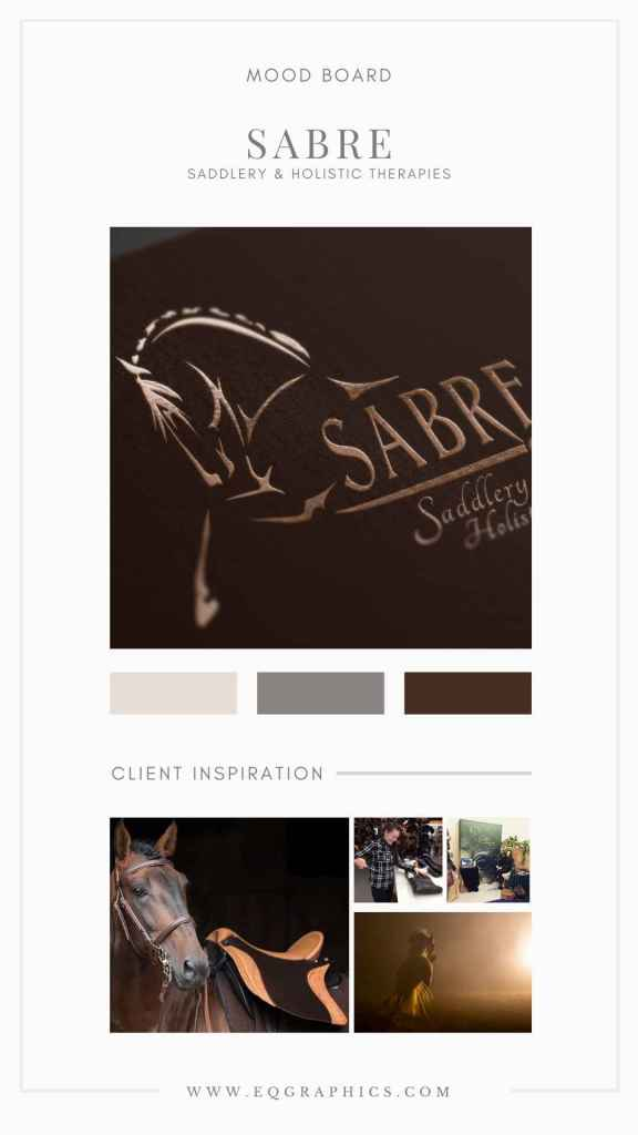 Unique Umber Palette for Saddle Fitter's Custom Andalusian Logo