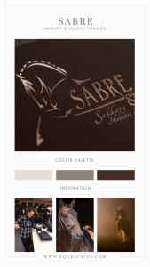 Mixed Fonts Fit Aesthetic of Baroque Tack Seller's Hand Drawn Logo Design