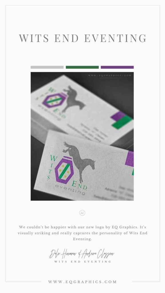 Convertible Logo for Eventing Horse Breeder Is Perfect for Multiple Uses