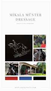 Luxe Equestrian Mood Board Meets Chic Dressage Horse at Piaffe Logo