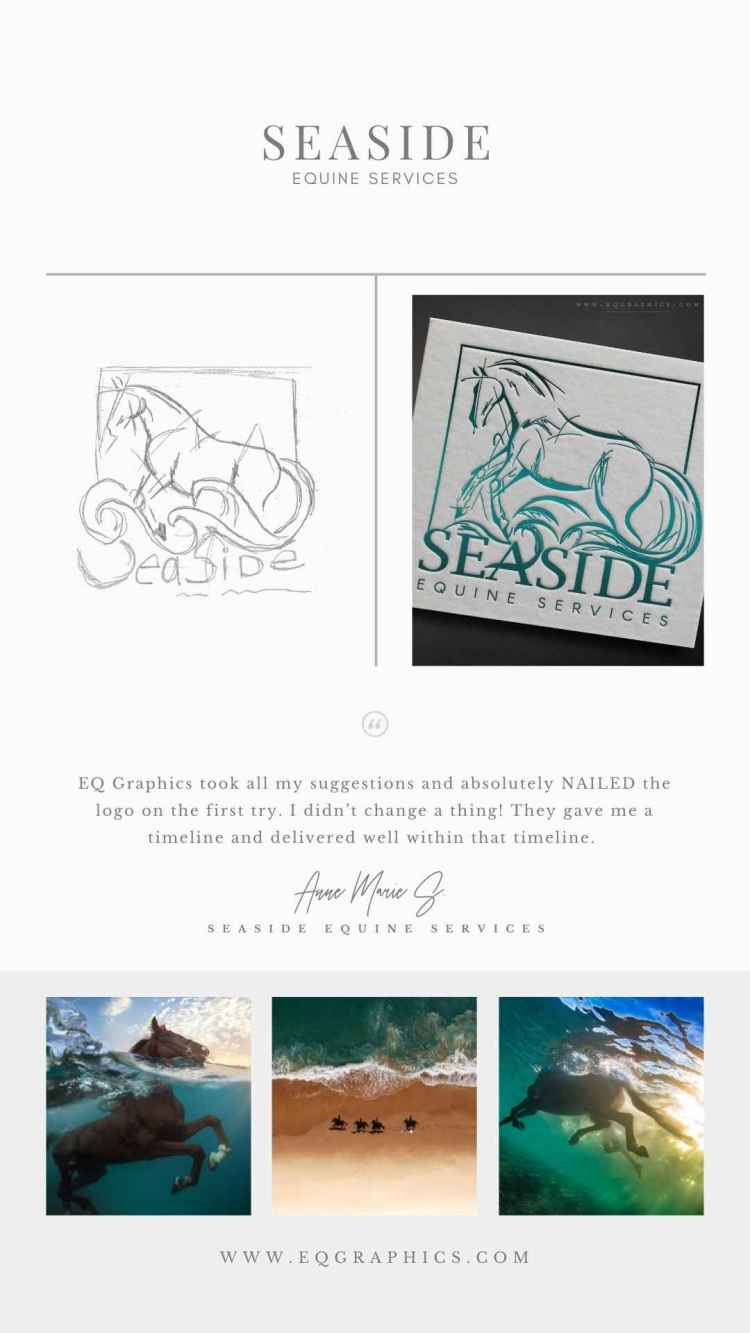 Elevate Your Visual Branding With a Striking Line Art Logo-Like This Ocean Horse