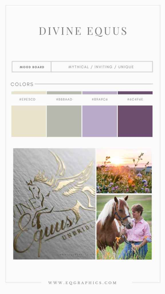 Mythological Winged Horse Adds Whimsy to Elegant Equine Therapy Center Logo