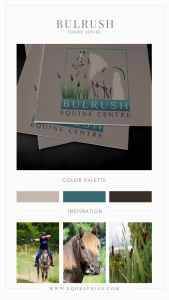 Earthy Gradient Paired With Gorgeous Cattail & Morgan Horse Logo Design