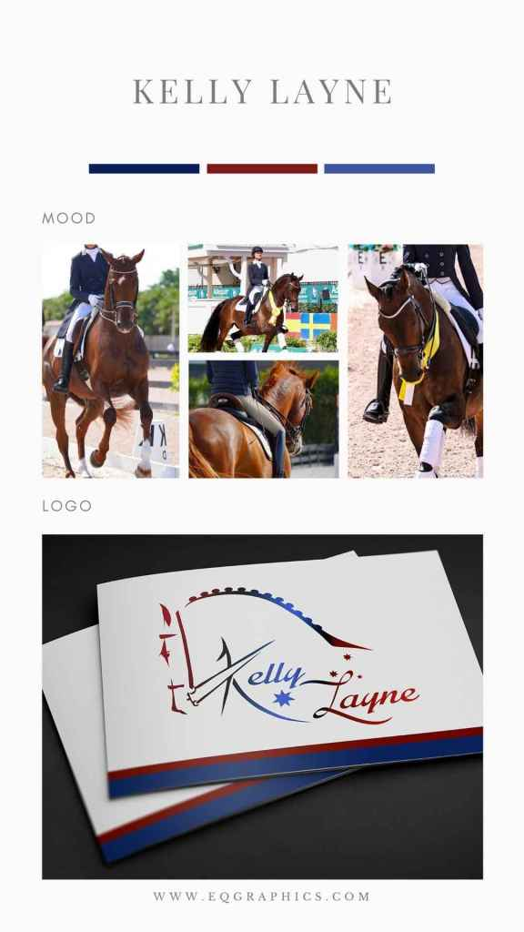 Take a Look At This International Dressage Star's Flag Inspired Custom Logo