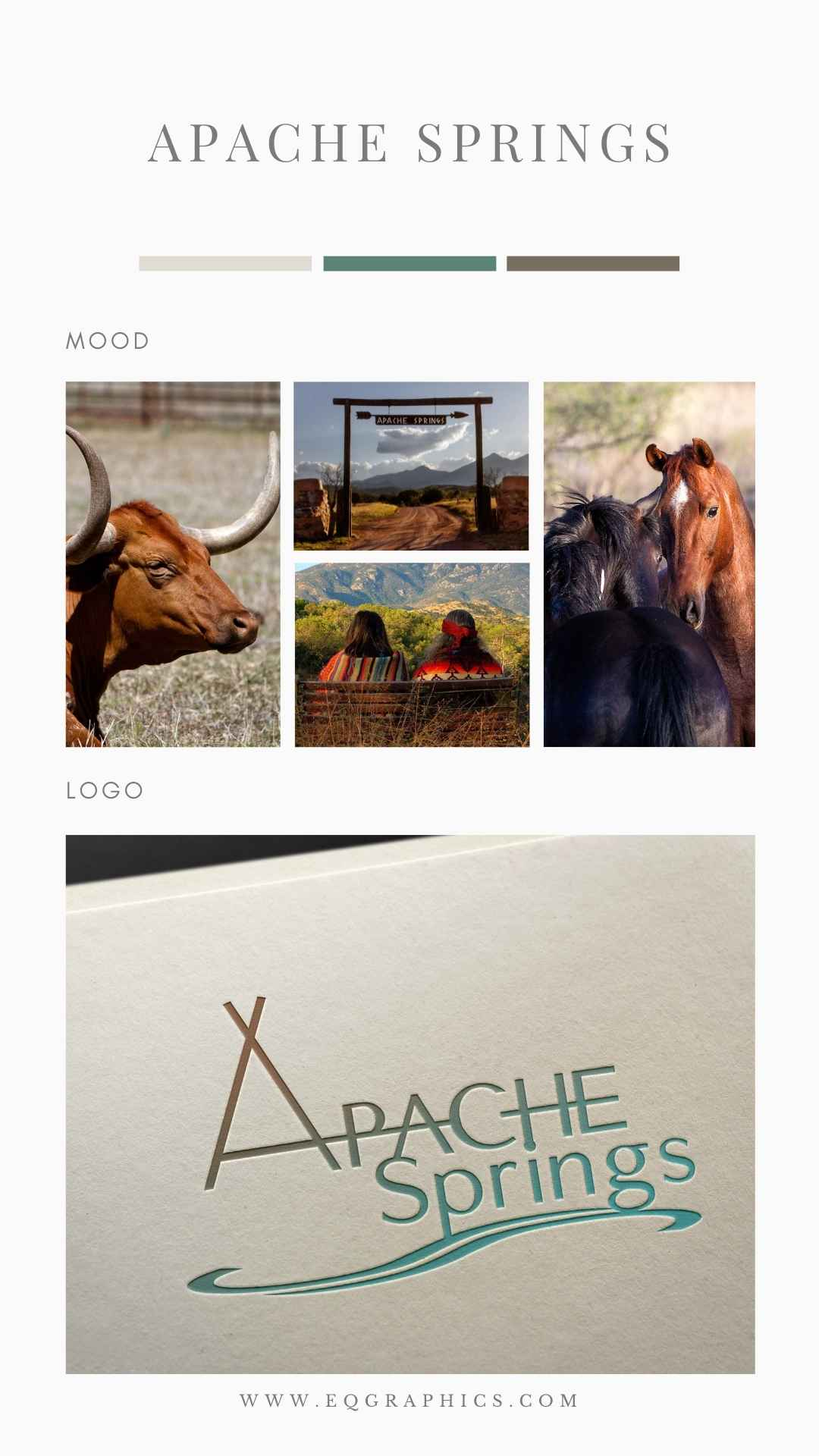 Feel the Relaxation in This Arizona Venue's Hand Drawn Southwestern Logo Design