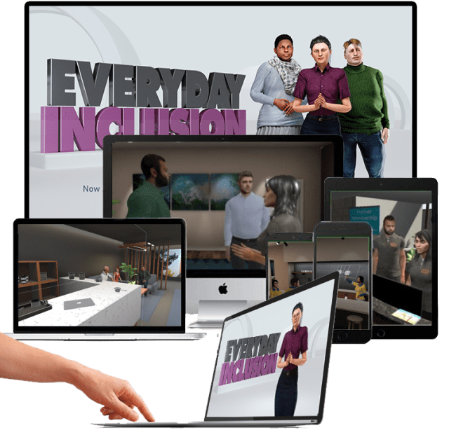 Everyday Inclusion Virtual Simulation Flatscreen 3D 2D Mobile PC Laptop