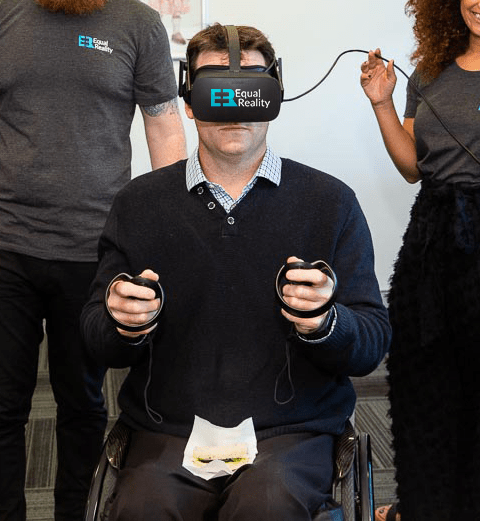 VR user wheelchair accessibility cpa cerebral palsy vr training diversity inclusion ability