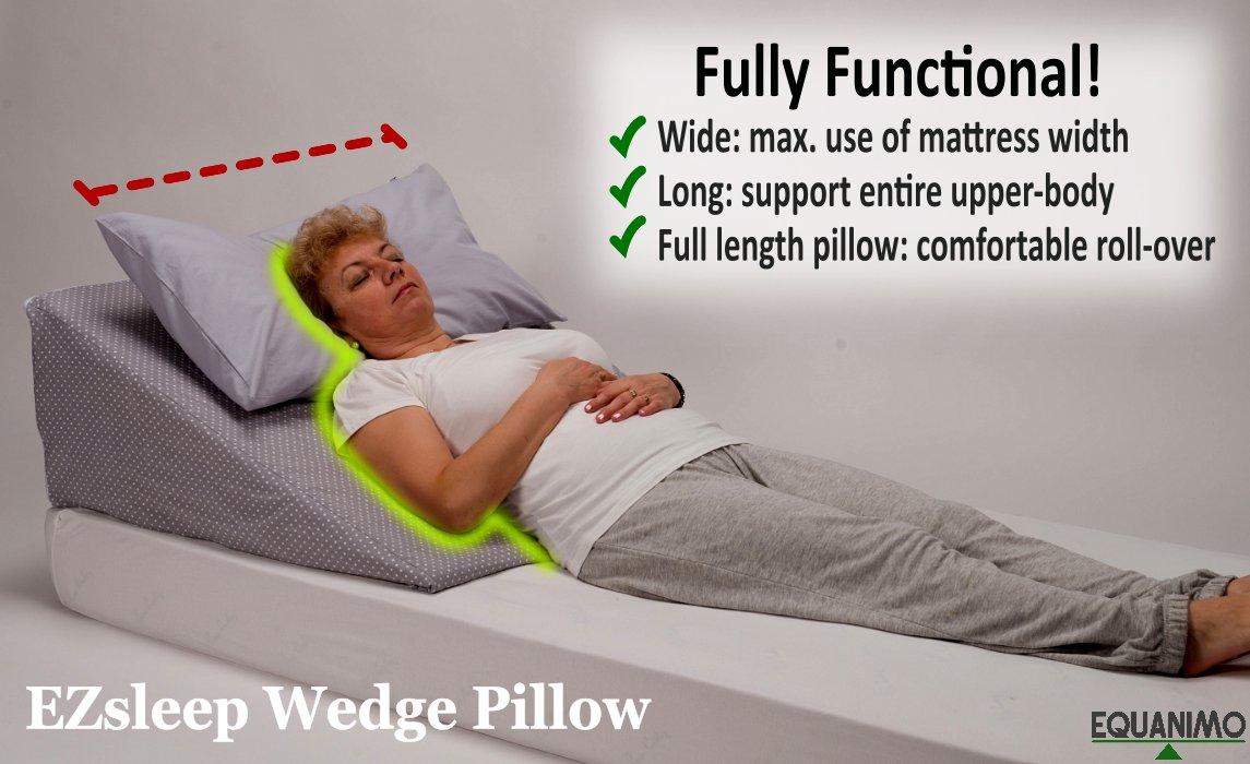 ezsleep wedge w85xl80xh30cm comfy