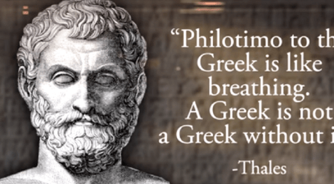 """Being a Greek: The word """"philotimo"""""""