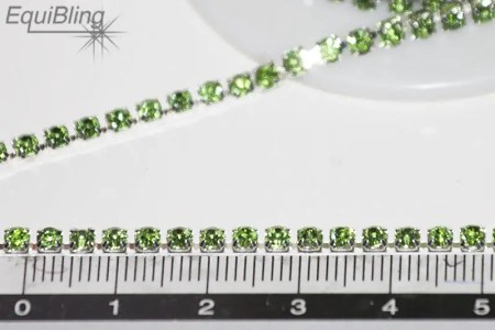 3mm strassketting groen