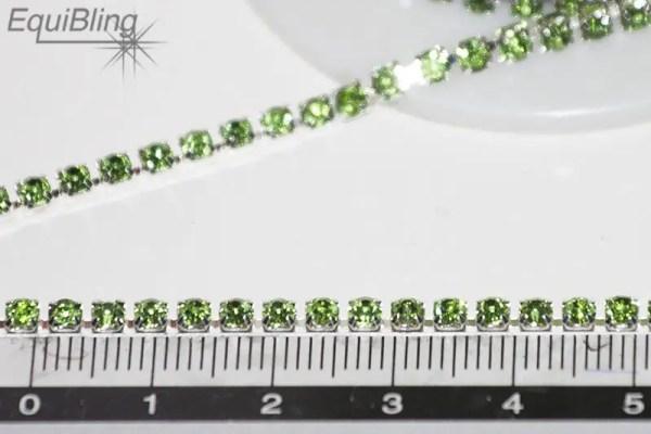 3mm strassketting groen