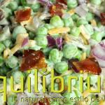 ensalada de guisantes verdes