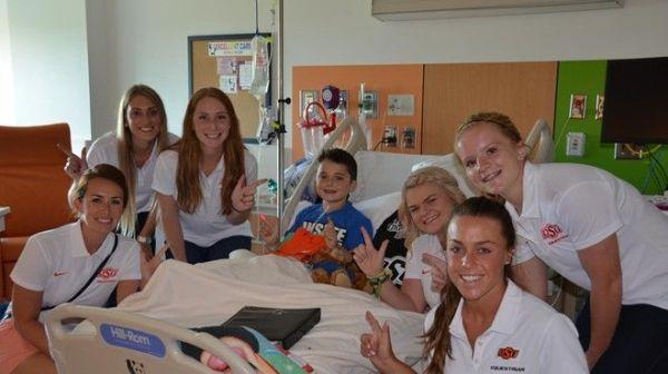 OSU Equestrian Team Visits Children Battling Cancer at ...