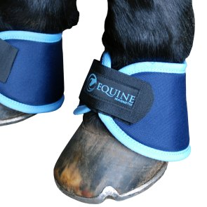 Magnetic bell boots in cyan by Equine Magnetix
