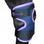 Magnetic hock boots in lilac by Equine Magnetix