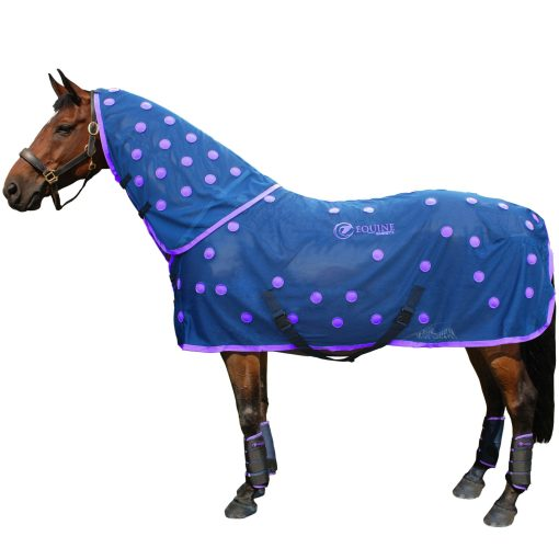 Magnetic horse rug in purple by Equine Magnetix