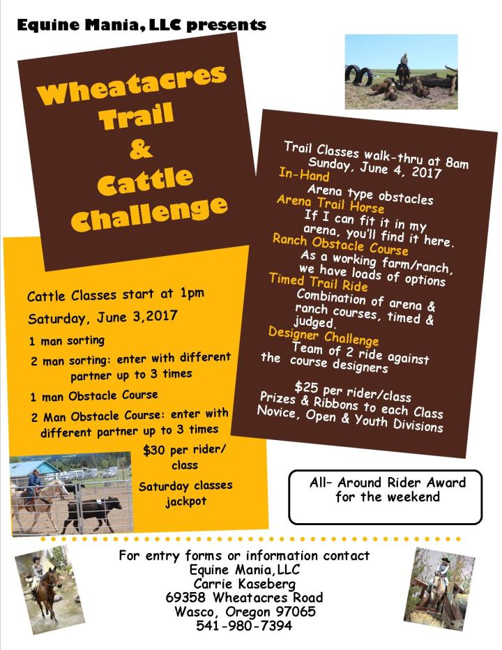 Wheatacres Trail & Cattle Challenge