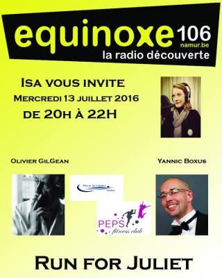 Isa vous invite : Spéciale Run for Juliet