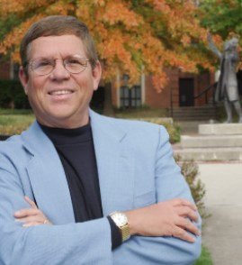 "Ben Witherington at Asbury Theological Seminary (with statue of John Wesley preaching) - ""scandalous"" lack of scholarly standards"