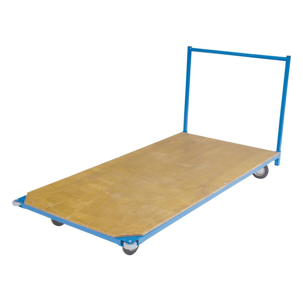 chariot de transport pour tapis avec plateau