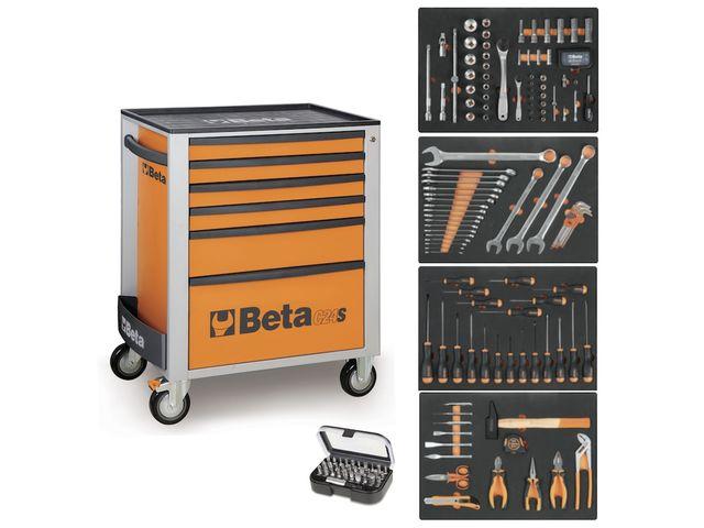 servante mobile d atelier 6 tiroirs beta c24s 6 compo 147 outils rouge de la marque beta