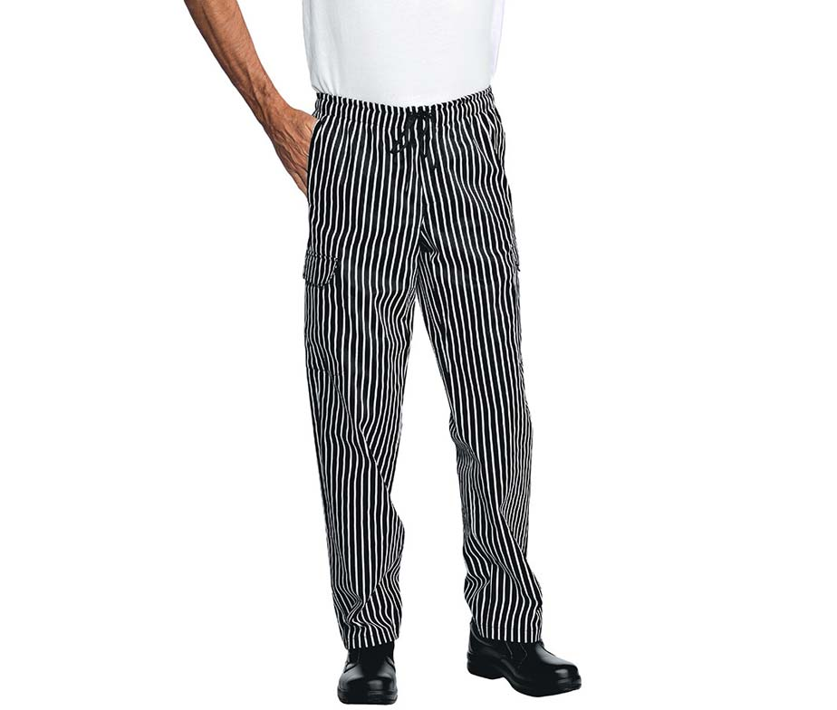 Pantal n cocina a rayas pantal n de cocinero y chef isacco londra - Pantalones de cocina ...