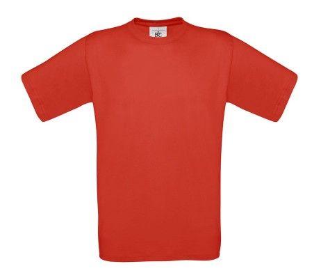 camiseta manga corta hombre rojo