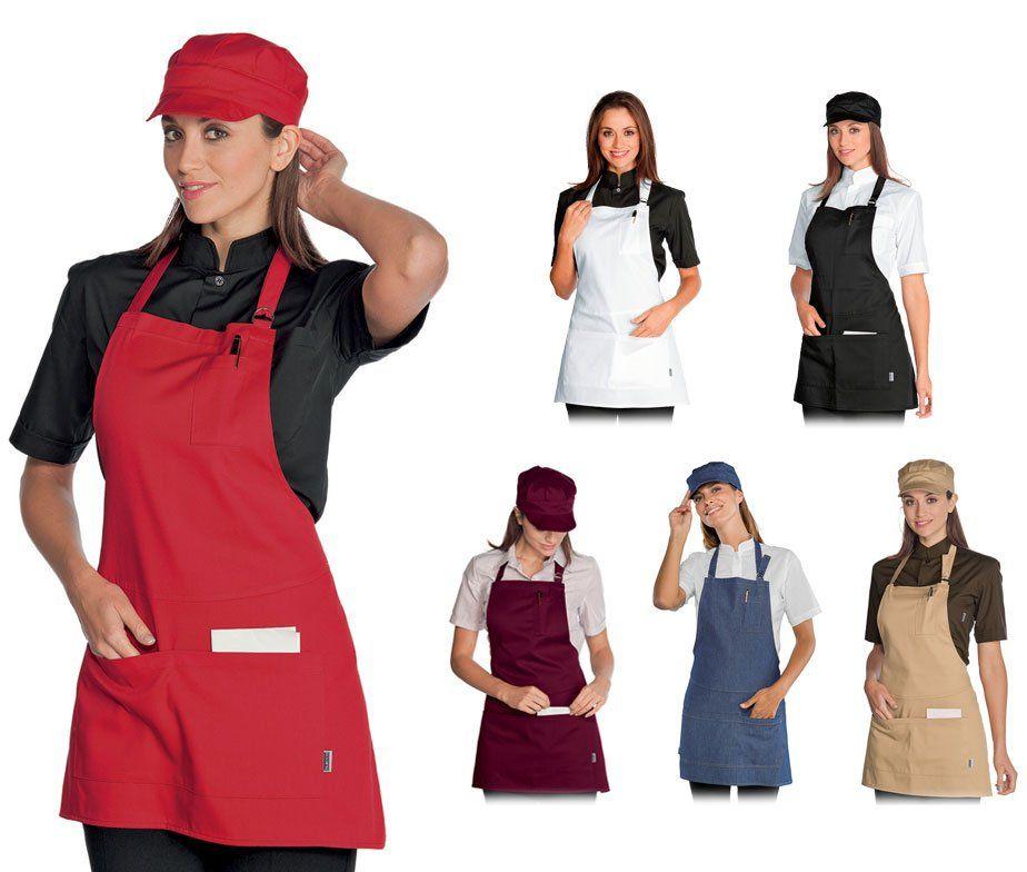 Delantal peto de camarero delantal peto hosteleria isacco for Carritos y camareras de cocina