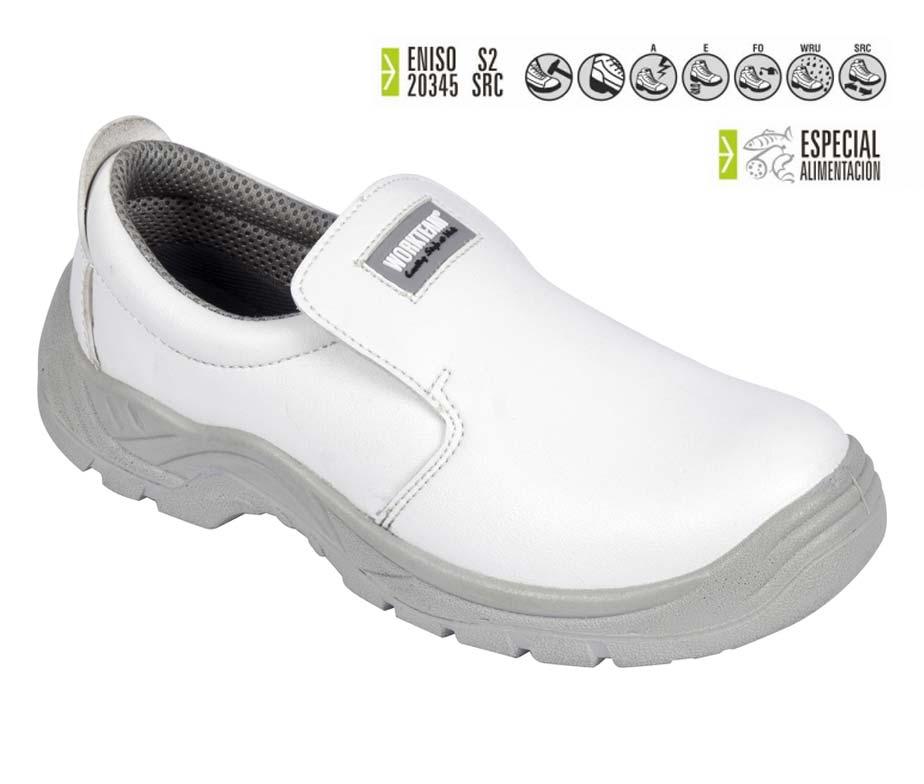 Zapato seguridad total blanco cocina y sanidad calzado - Zapatos de cocina antideslizantes ...