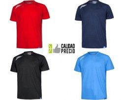 Camiseta tecnica deportiva industria bolsillo 100 poliester
