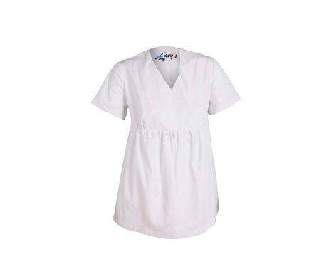 casaca embarazada premama laboral sanidad y estética blanca