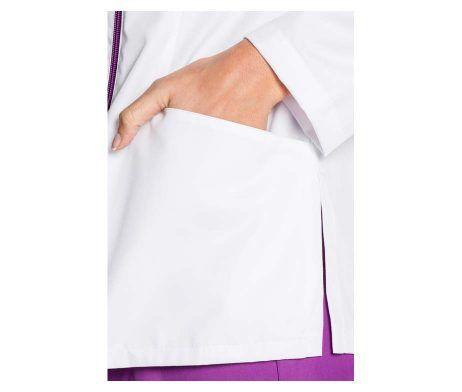 casaca sanitiaria y farmacia manga larga cierre de cremallera