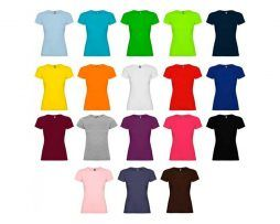 camiseta mujer manga corta algodón