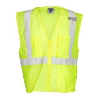 ML Kishigo 1085 3 Pocket Zipper Mesh Lime Vest