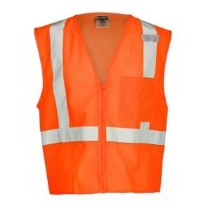 ML Kishigo 1090 Economy Orange Class 2 Safety Vest, 1 Pocket