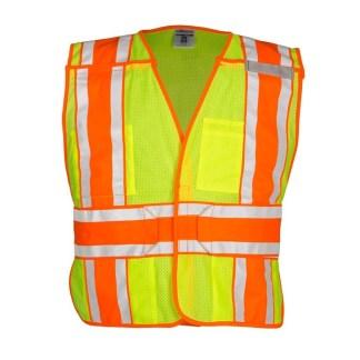ML Kishigo 1166BA 4 Season Breakaway Lime Vest