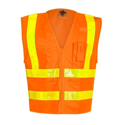 ML Kishigo 1198 Combined Performance 5 Pocket Solid Orange Vest