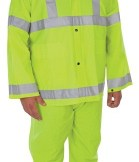 1260HIVIZ Class 2  3-Piece Hi-Viz Lime Green Rainsuit