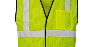 ML Kishigo 1535 Lime Single Pocket Breakaway Economy Vest