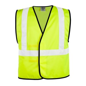 ML Kishigo 1545 Solid Adjustable Lime Vest
