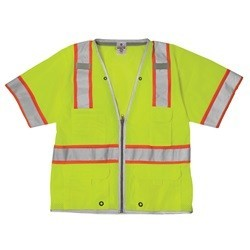 ML Kishigo 1550 Brilliant Series Class 3 LIME/YELLOW Heavy Duty Safety Vest
