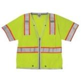 ML Kishigo 1550 Brilliant Series Class 3 LIME/YELLOW Heavy Duty Safety Vest