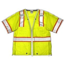 ML Kishigo 1552B Brilliant Series Class 3 Yellow/Lime Breakaway Safety Vest