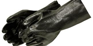 Liberty Gloves 2134 14 inch Semi Rough PVC Coated Gloves, Dozen